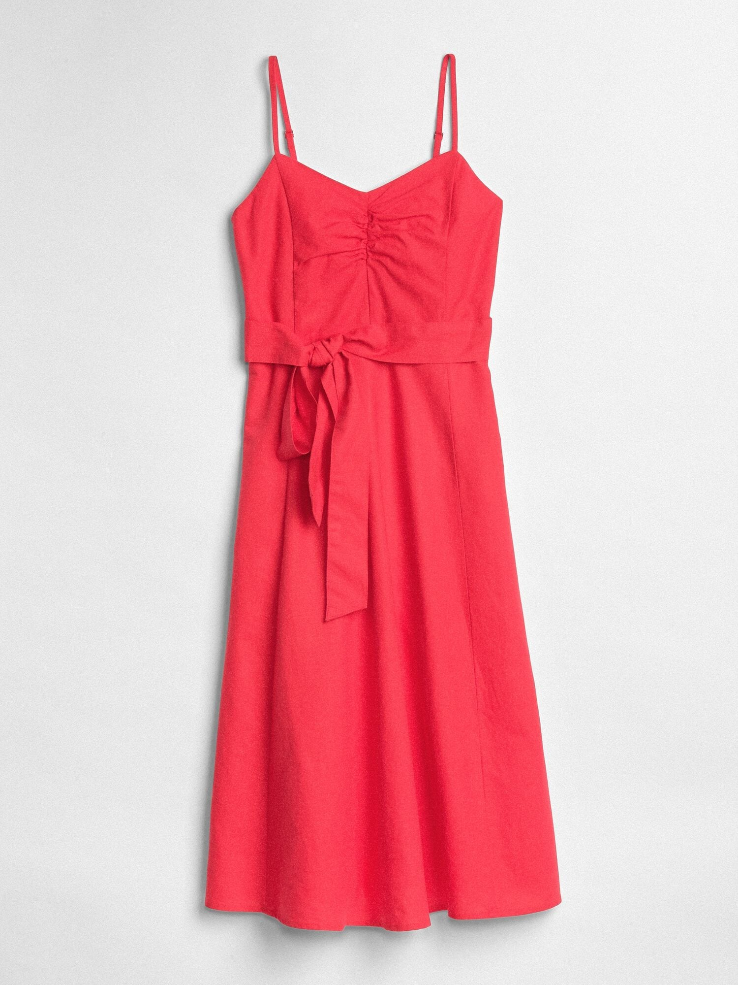 65dbedce5ec Gap Fit and Flare Cami Dress in Linen-Cotton at £34.99