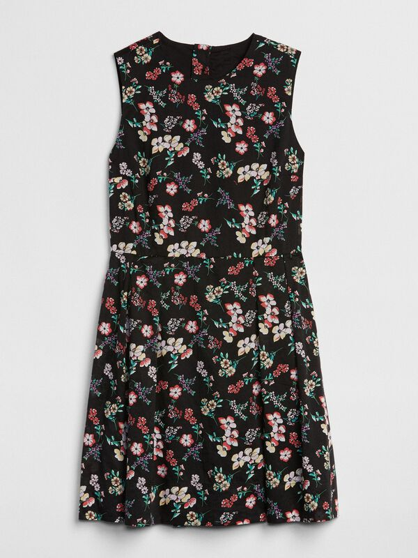 Gap - Sleeveless Print Fit and Flare Dress - 5
