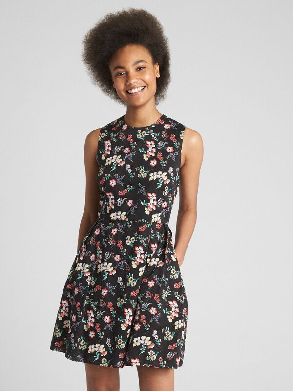 Gap - Sleeveless Print Fit and Flare Dress - 1