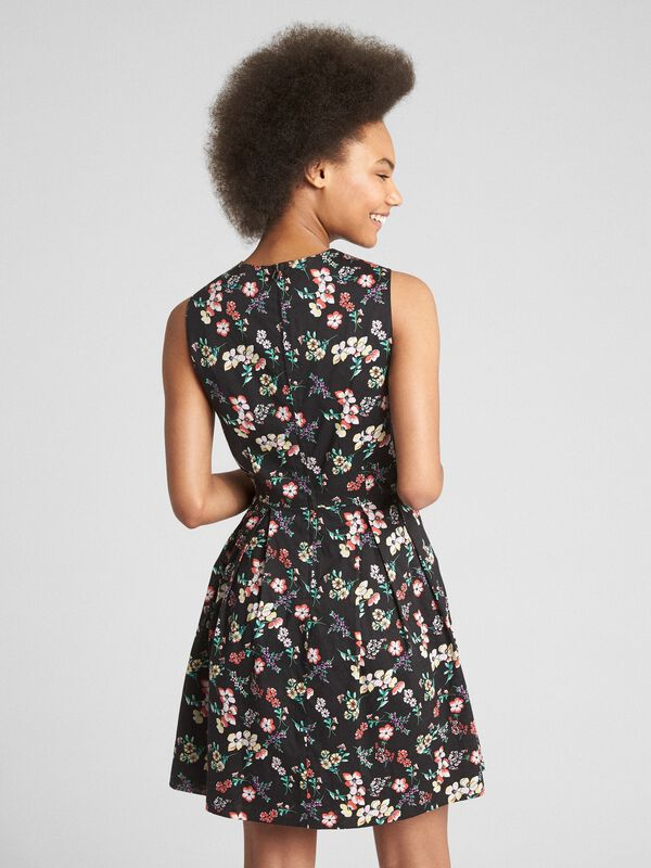 Gap - Sleeveless Print Fit and Flare Dress - 2
