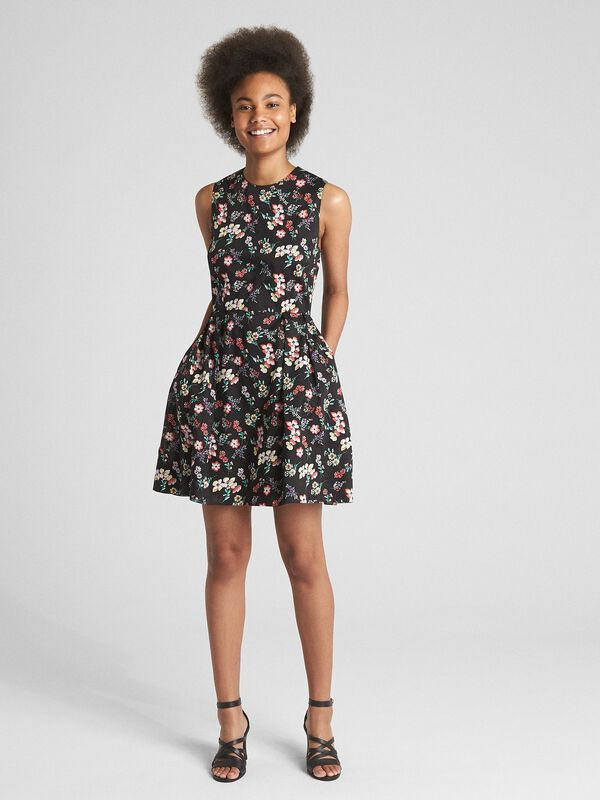 Gap - Sleeveless Print Fit and Flare Dress - 3