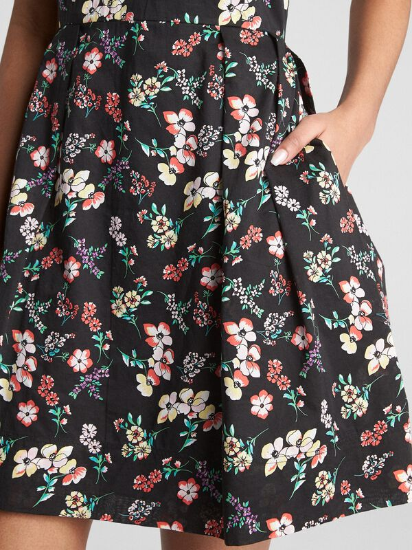 Gap - Sleeveless Print Fit and Flare Dress - 4