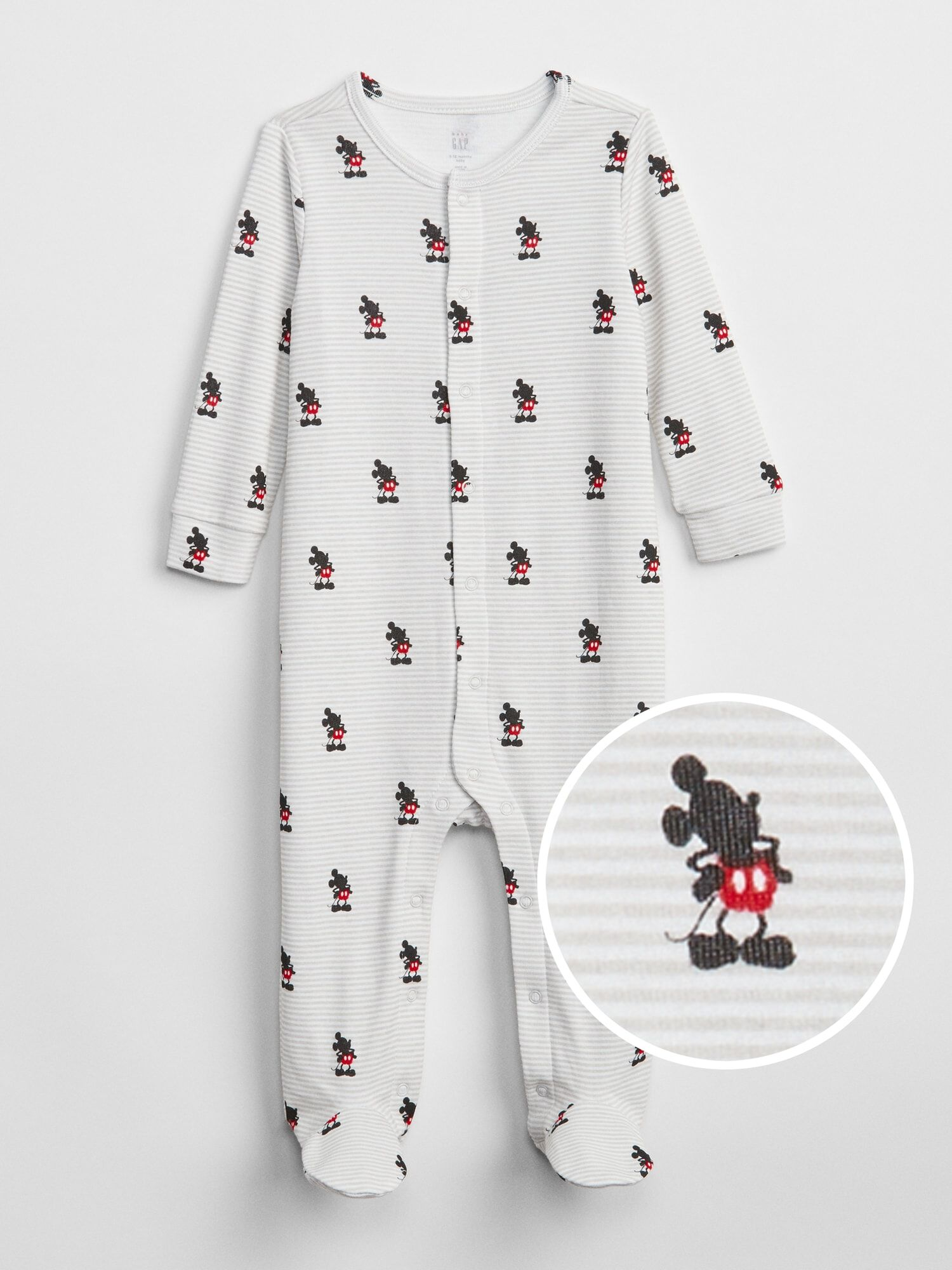 fe81130116b3 babyGap | Disney Mickey Mouse Footed One-Piece | Gap® UK