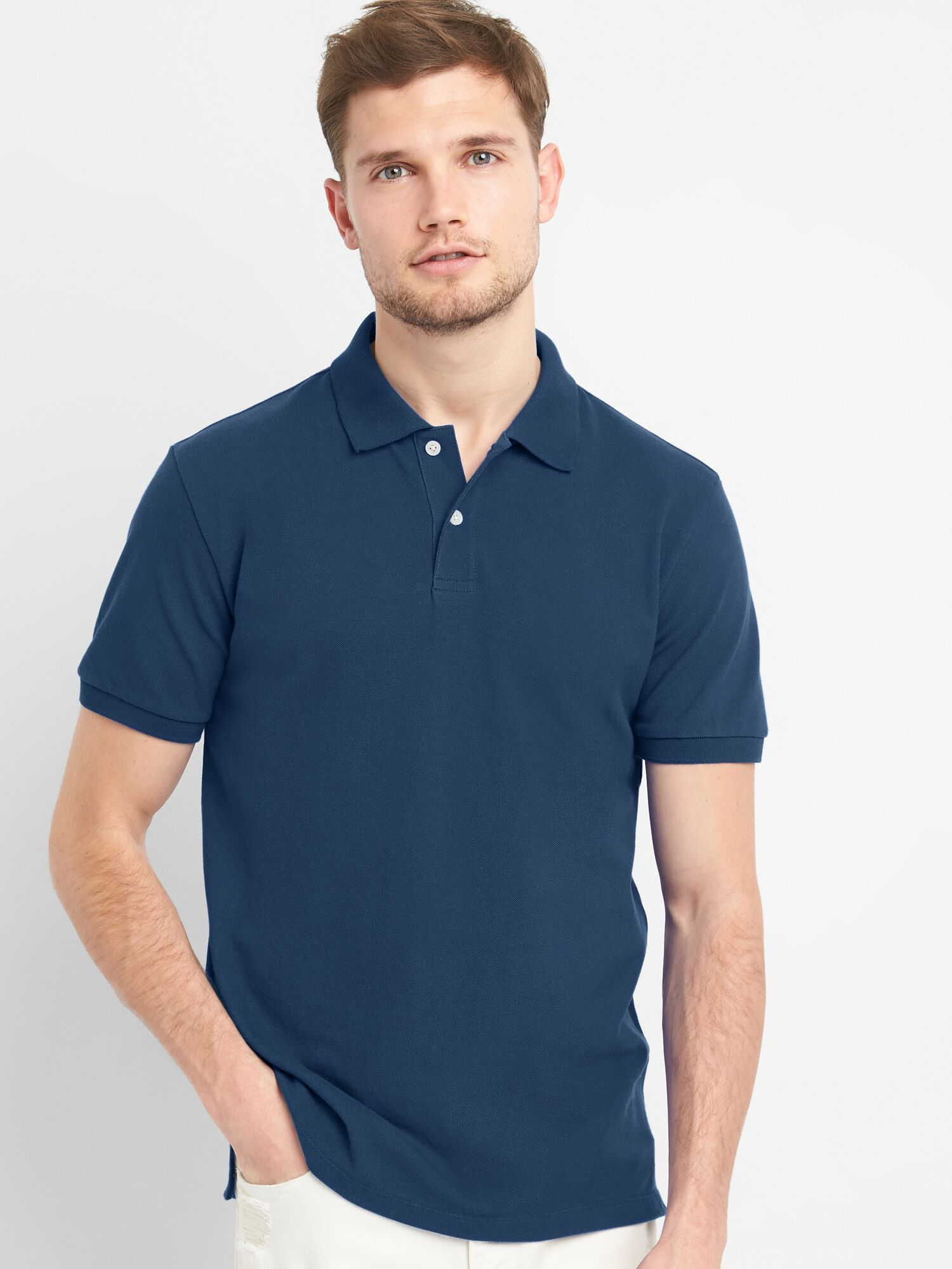 a8d58dabfa53 authentic mens t shirts polo shirts saks d6066 9f4e6; inexpensive short  sleeve pique polo shirt in stretch 3b3fb 24244