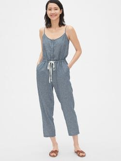 a0a3fab9f8d7e8 Stripe Cami Jumpsuit in Linen-Cotton