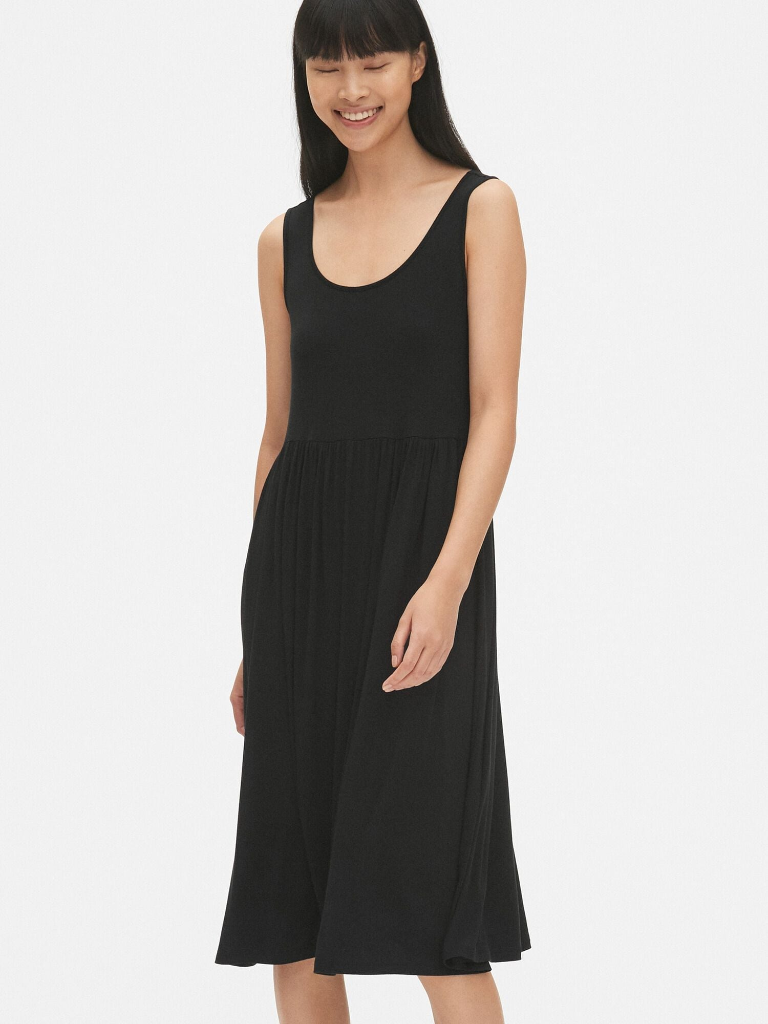 Fit and Flare Tank Midi Dress | Gap® UK