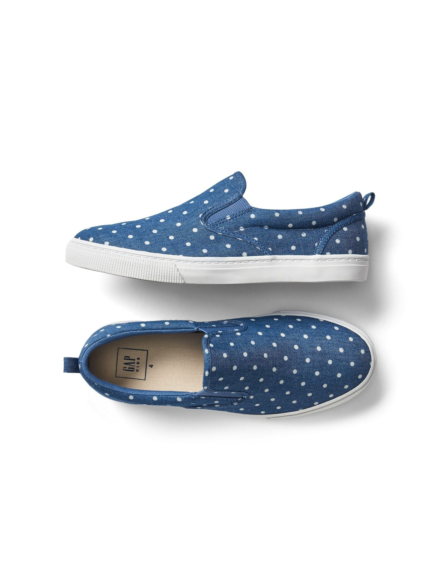 cb7f109386d Dotty chambray slip-on sneakers
