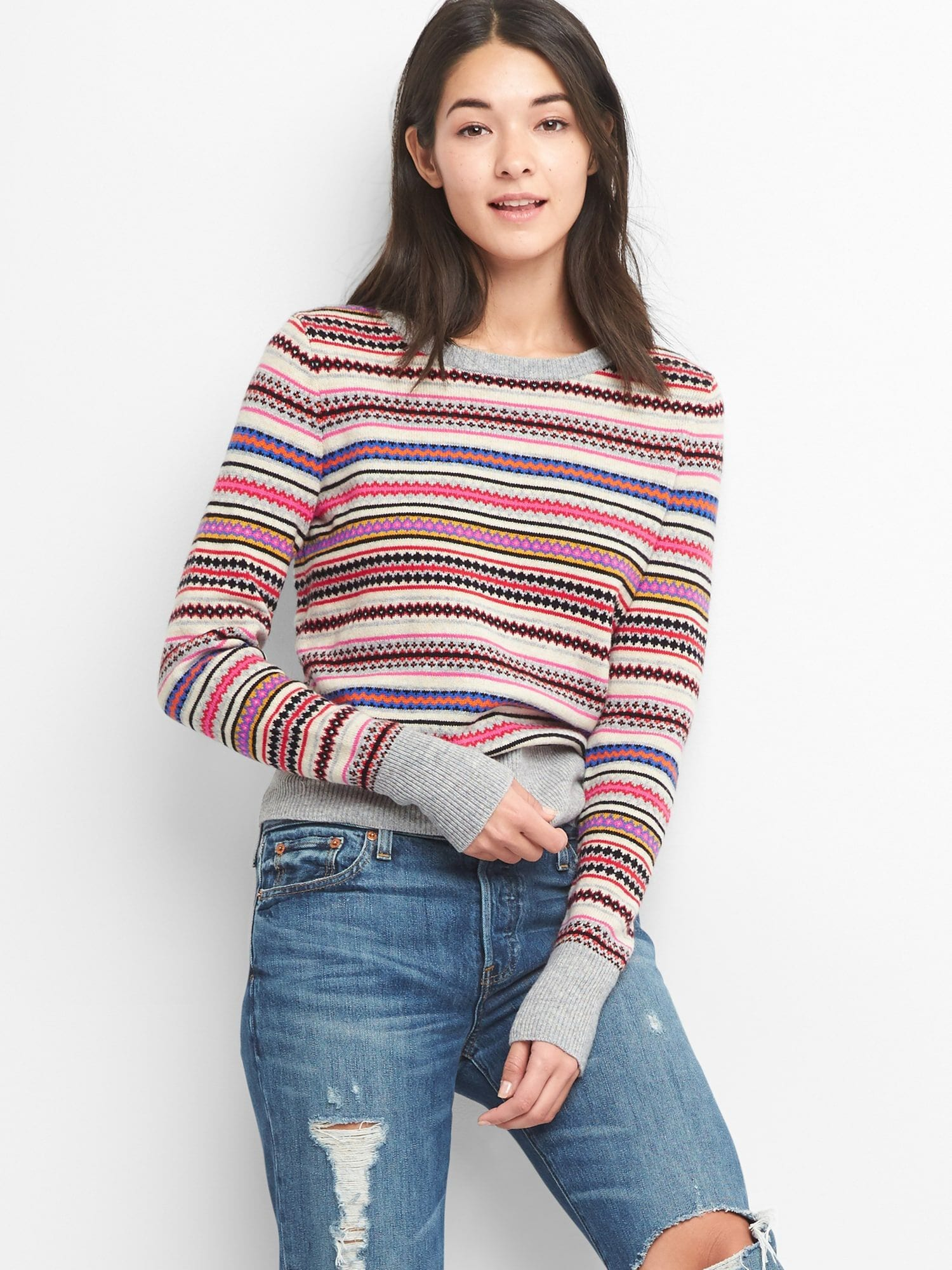 Gap® Fair Sweater Isle Crewneck Uk tqBnXw8gX