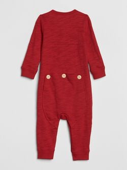 Baby Button Front Union Suit by Gap