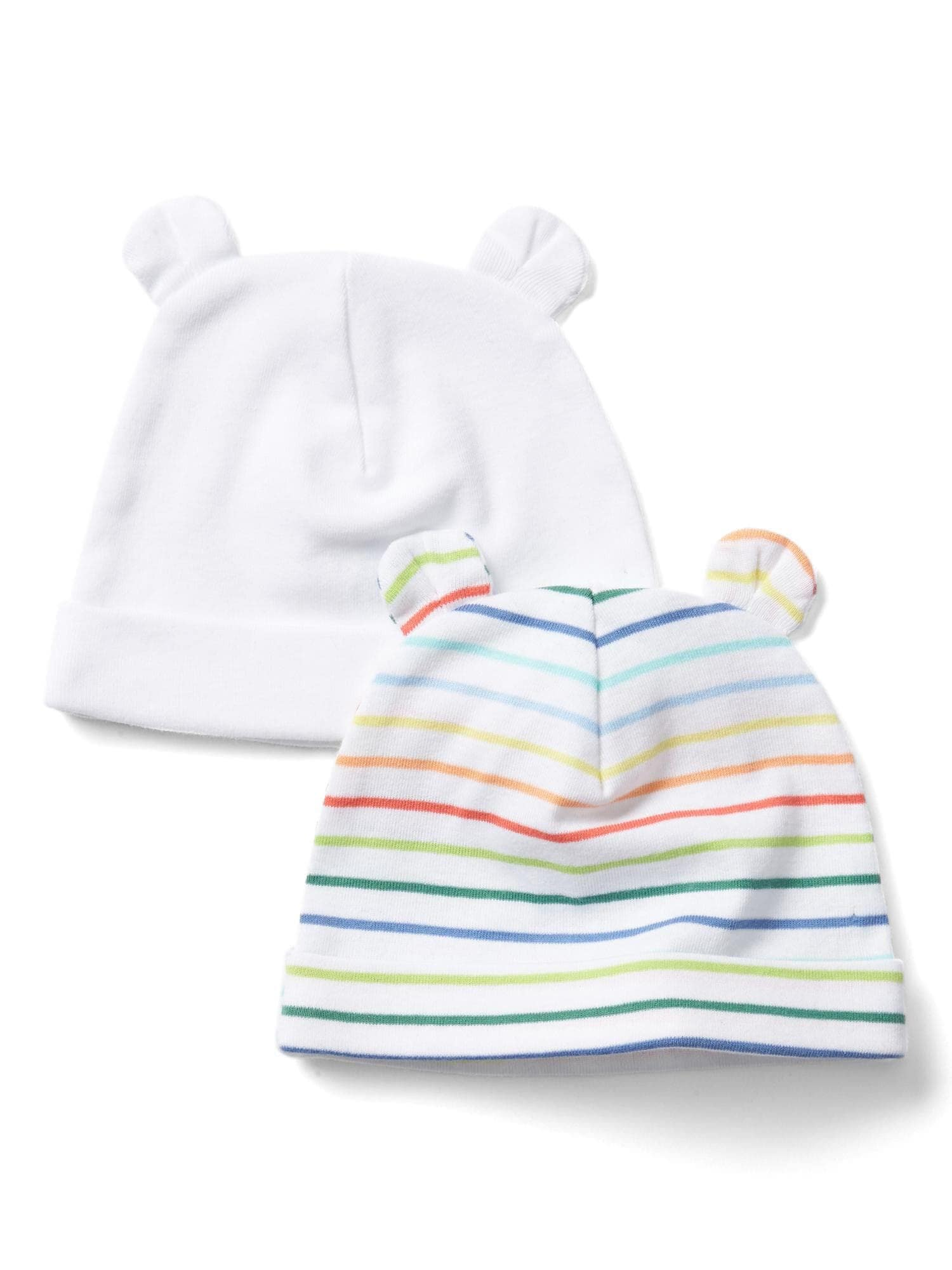 986cacff8 Baby First Favorite Stripe Bear Hat (2-Pack)