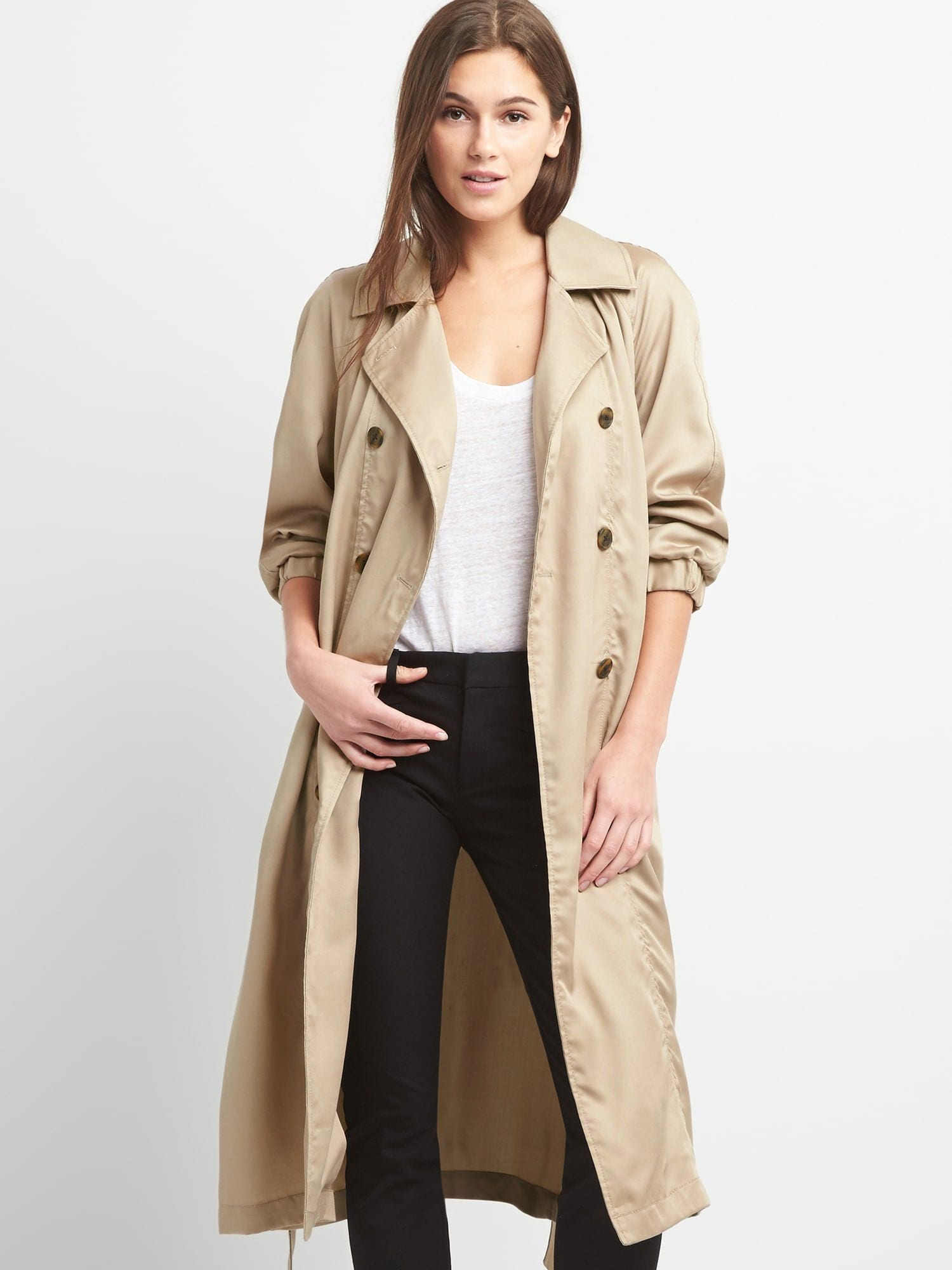 153e2e1fb6b9 TENCEL™ Drapey Trench Coat | Gap® UK