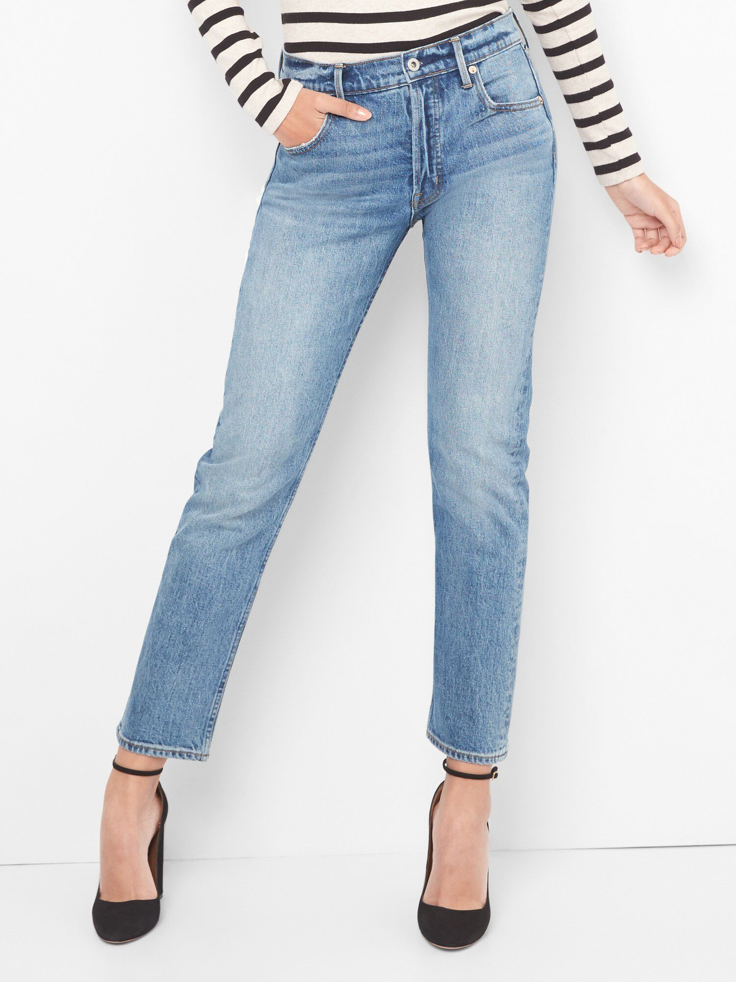 b028197703025 Cone Denim® Super High Rise Straight Jeans