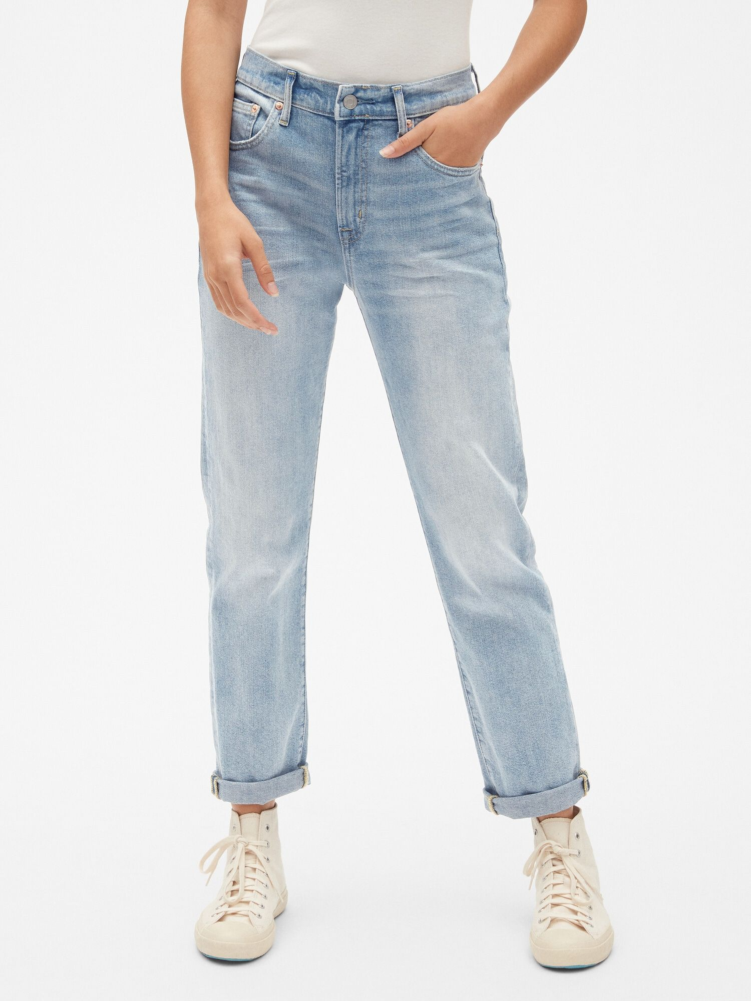 62f4b739d94b5c High Rise Best Girlfriend Jeans | Gap® UK