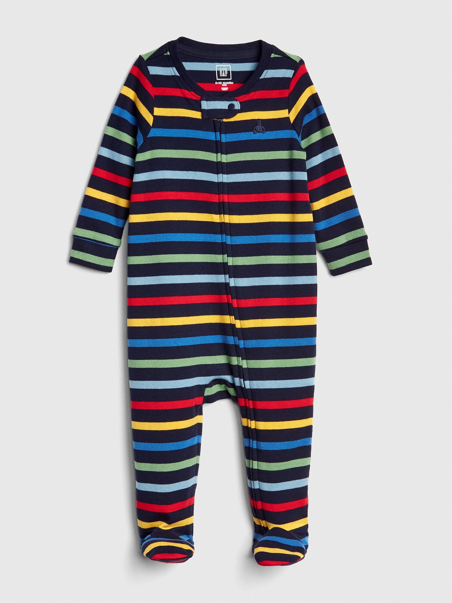 b7797256e Crazy Stripe Footed One-Piece
