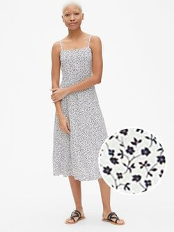 Spring Dresses. Product image is missing! Print Fit and Flare Cami Midi  Dress 40df3beb1