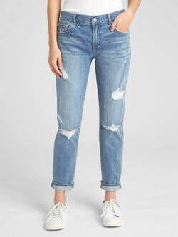 b497d630a8d Mid Rise Best Girlfriend Jeans in Distressed
