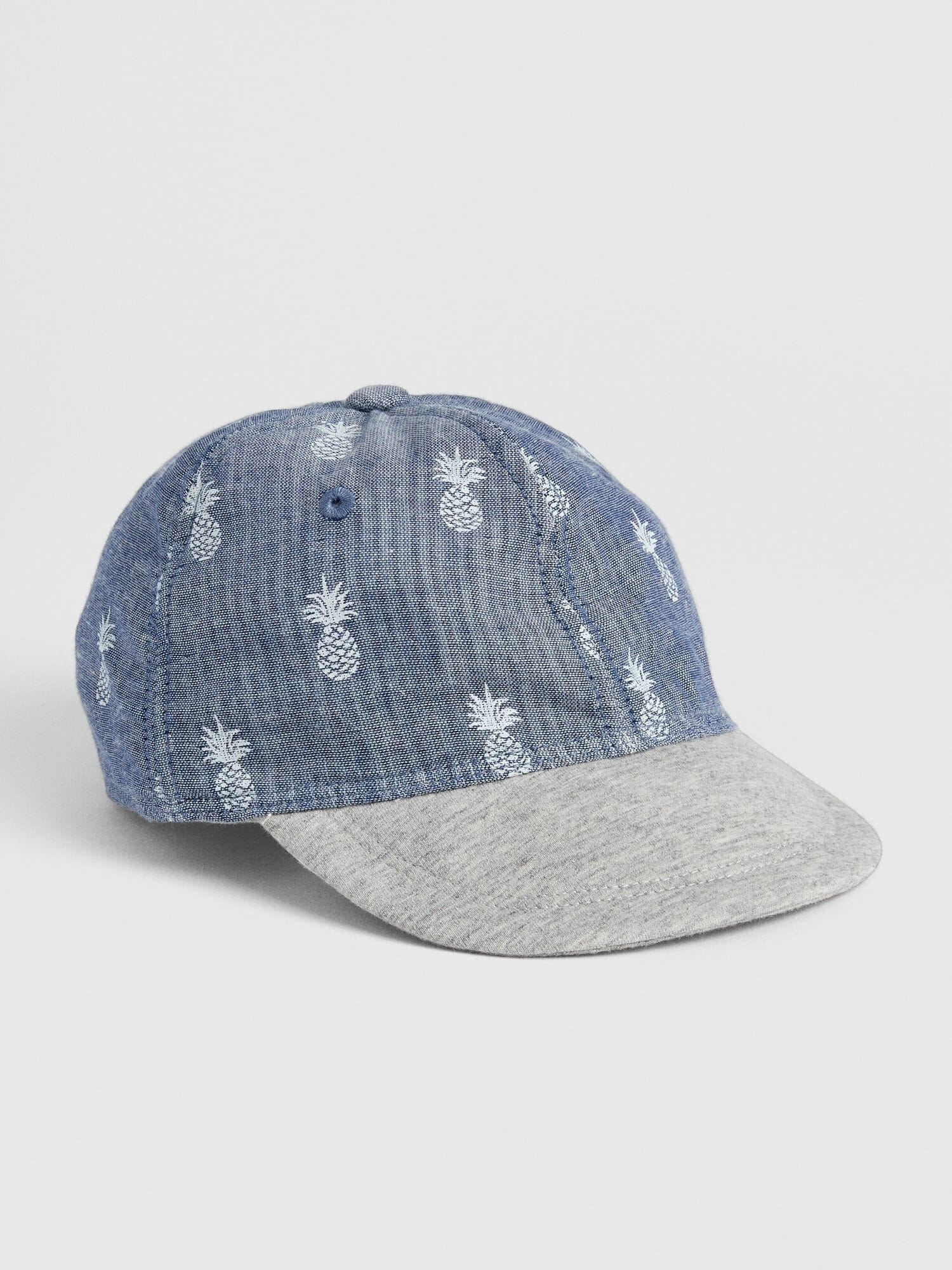 2d8dc14f Baby Pineapple Print Chambray Baseball Hat | Gap® UK
