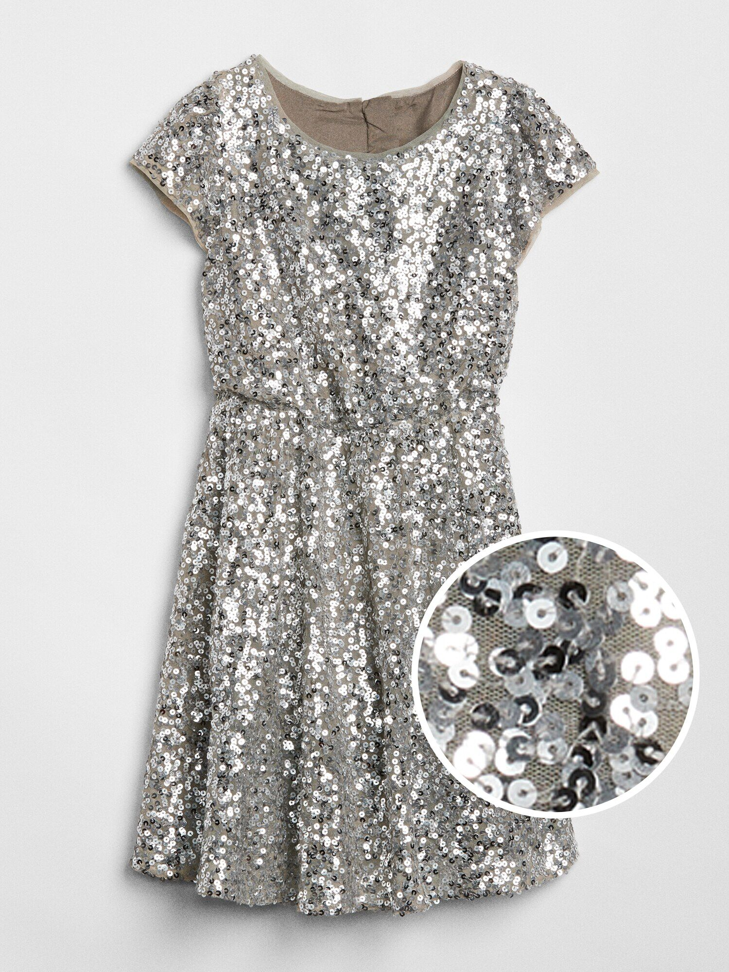 24836cde3893 Sequin Fit and Flare Dress | Gap® UK