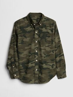 5952cb5d New to Sale. Product image is missing! Kids Poplin Print Long Sleeve Shirt