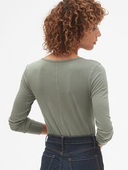 Featherweight Long Sleeve V Neck T Shirt by Gap