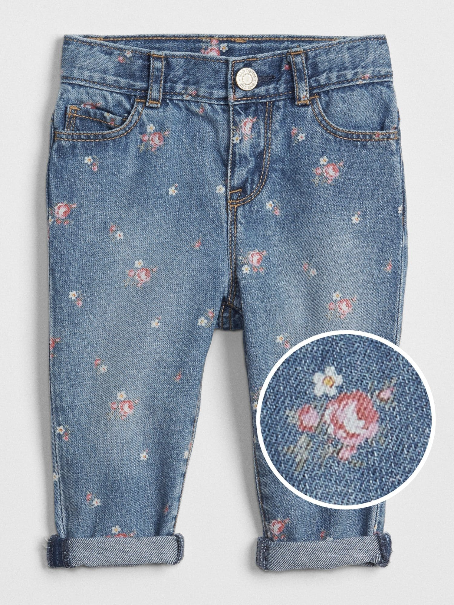 5067cca9b6 Floral Print Girlfriend Jeans | Gap® UK