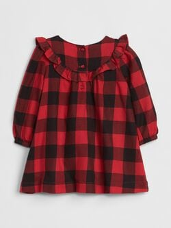 Embroidered Plaid Dress by Gap