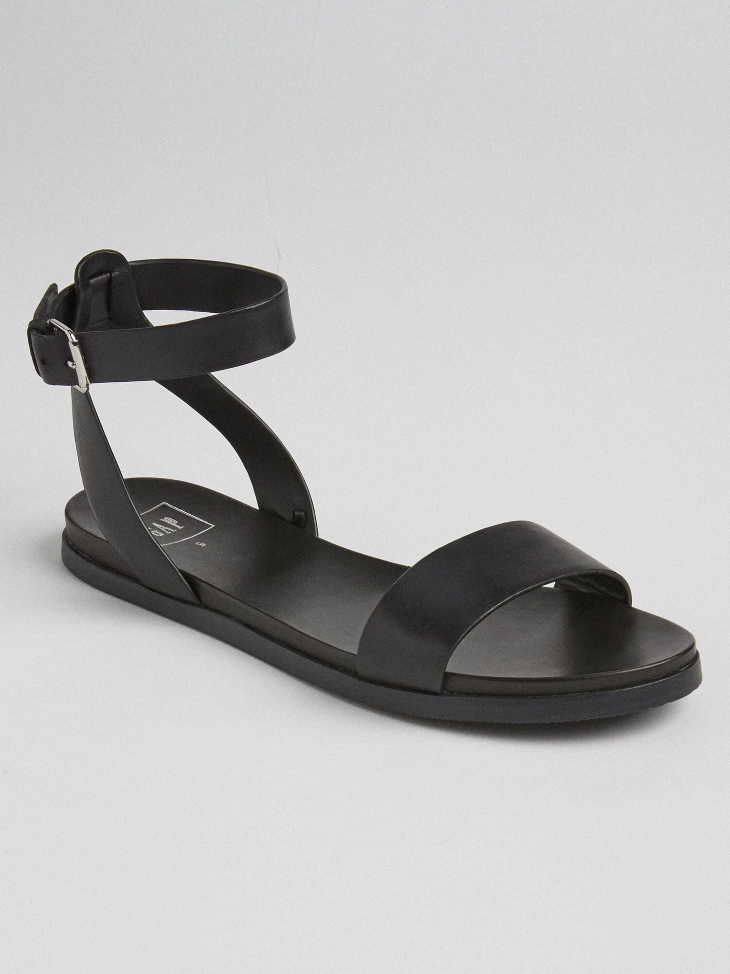 Ankle-Strap Flat Sandals