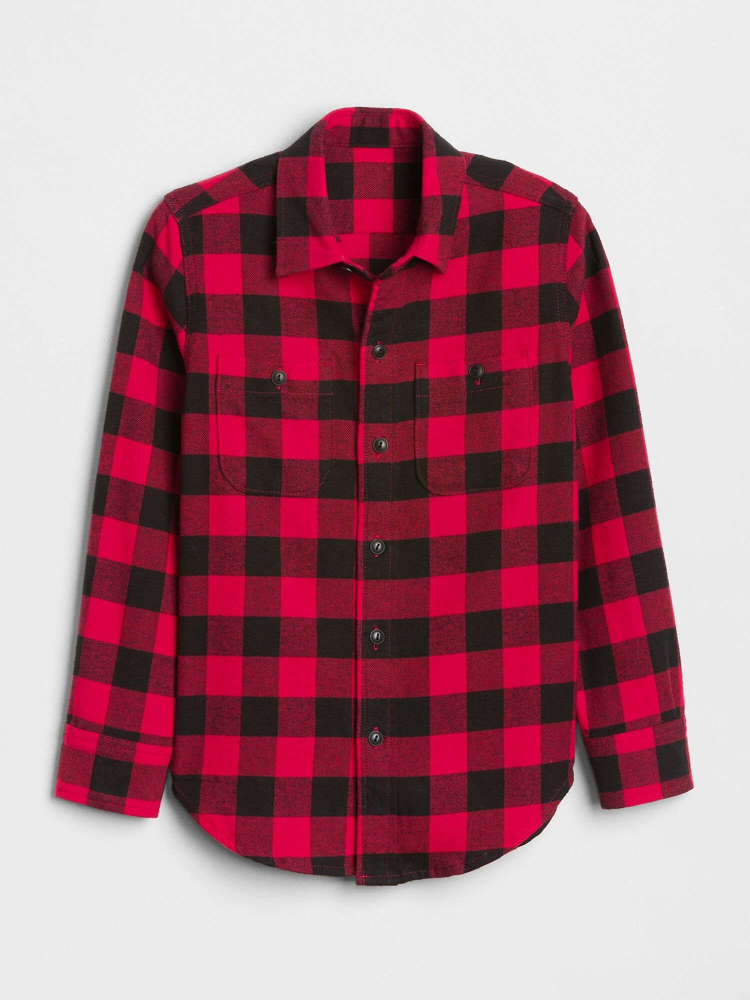 60bdee6e Buffalo Plaid Flannel Shirt | Gap® UK