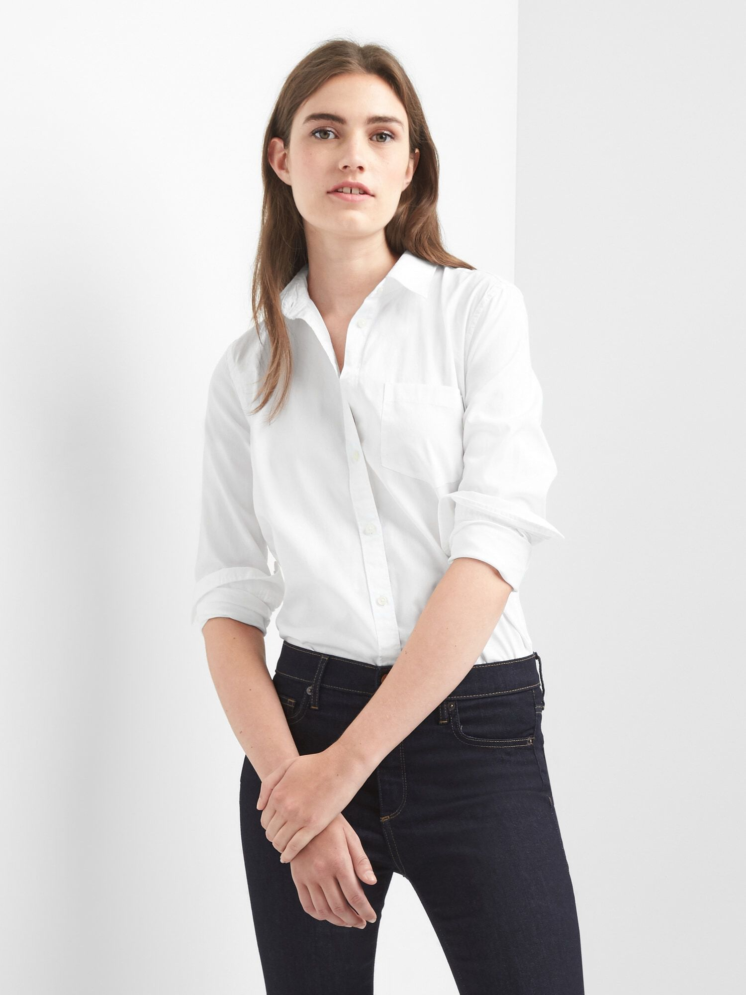 0d9797c48be Fitted Boyfriend Oxford Shirt