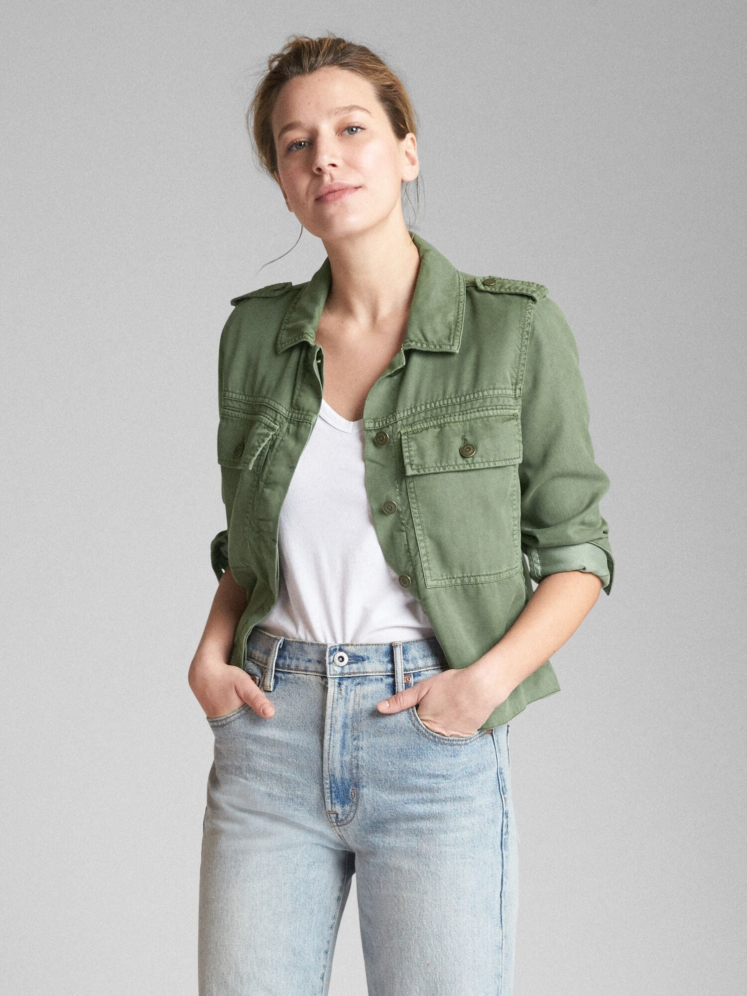 46dcd0cdee551 TENCEL™ Icon Utility Jacket | Gap® UK