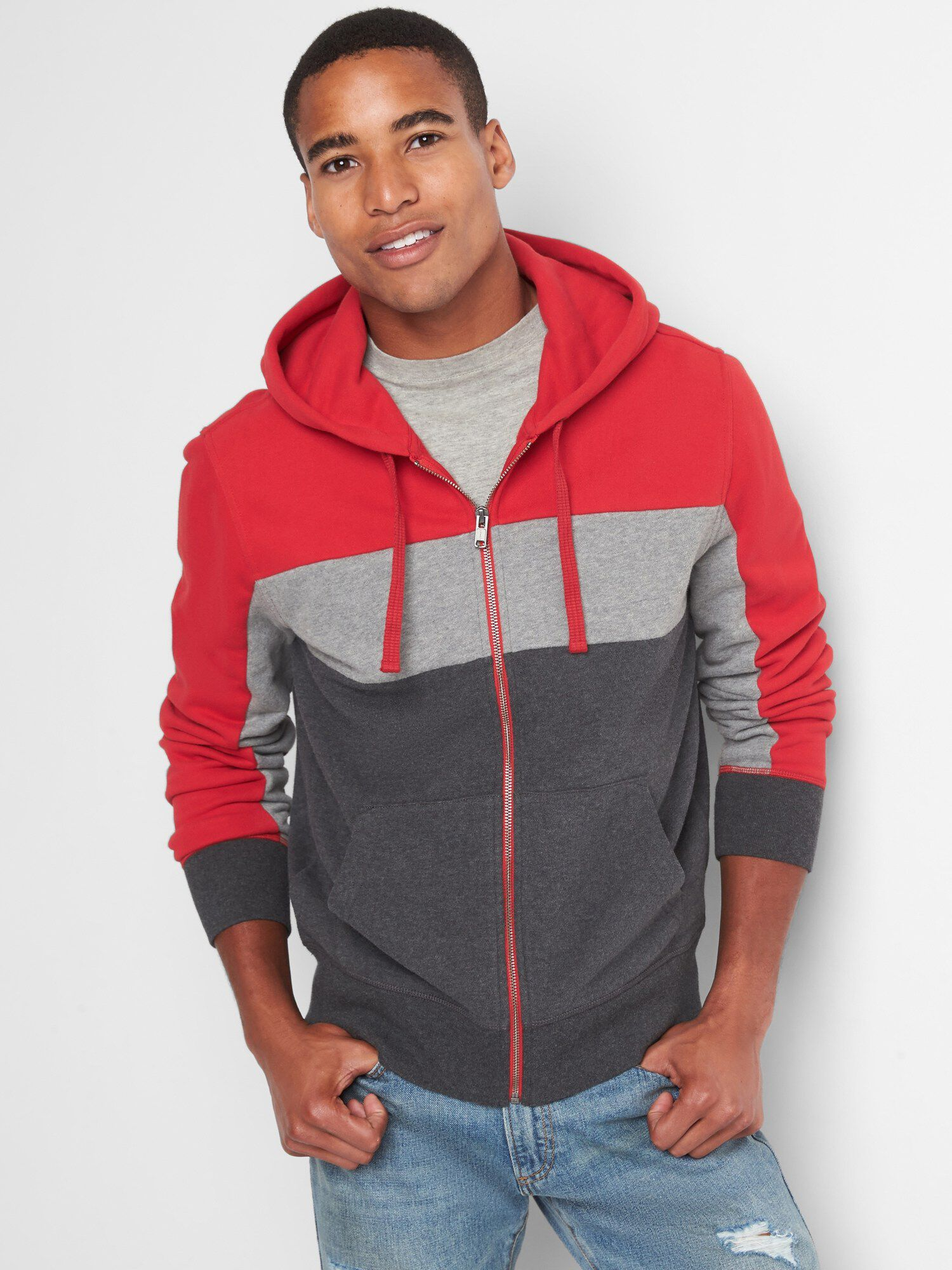 4ba0d960f7a40 French terry colorblock hoodie | Gap® UK