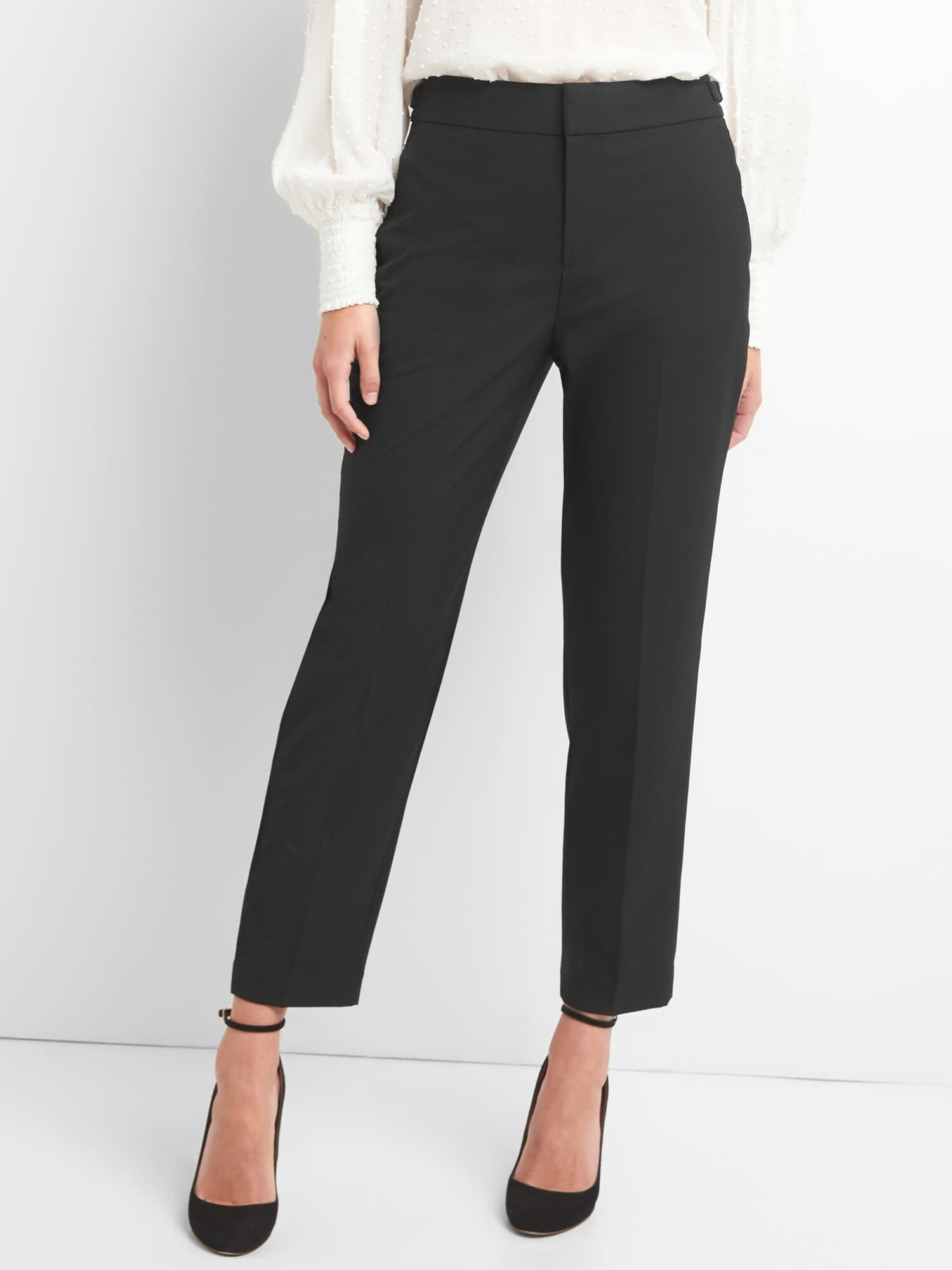 1996e581f26 High rise tapered ankle pants