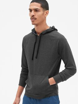 73c6e79731b GapFit Brushed Tech Jersey Pullover Hoodie