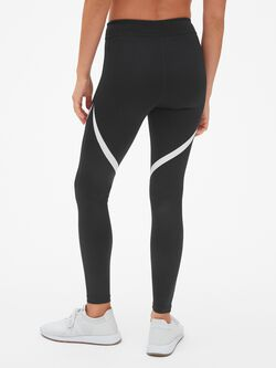 Gap Fit Blackout Shine Spliced Full Length Leggings by Gap