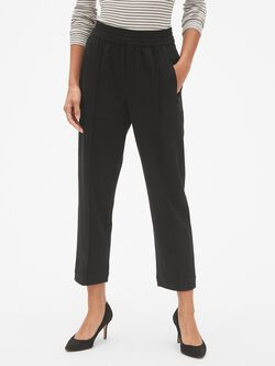 41e3363ce32d Straight Crop Pants in Brushed Ponte