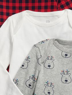 Baby Reindeer Bodysuit (3 Pack) by Gap