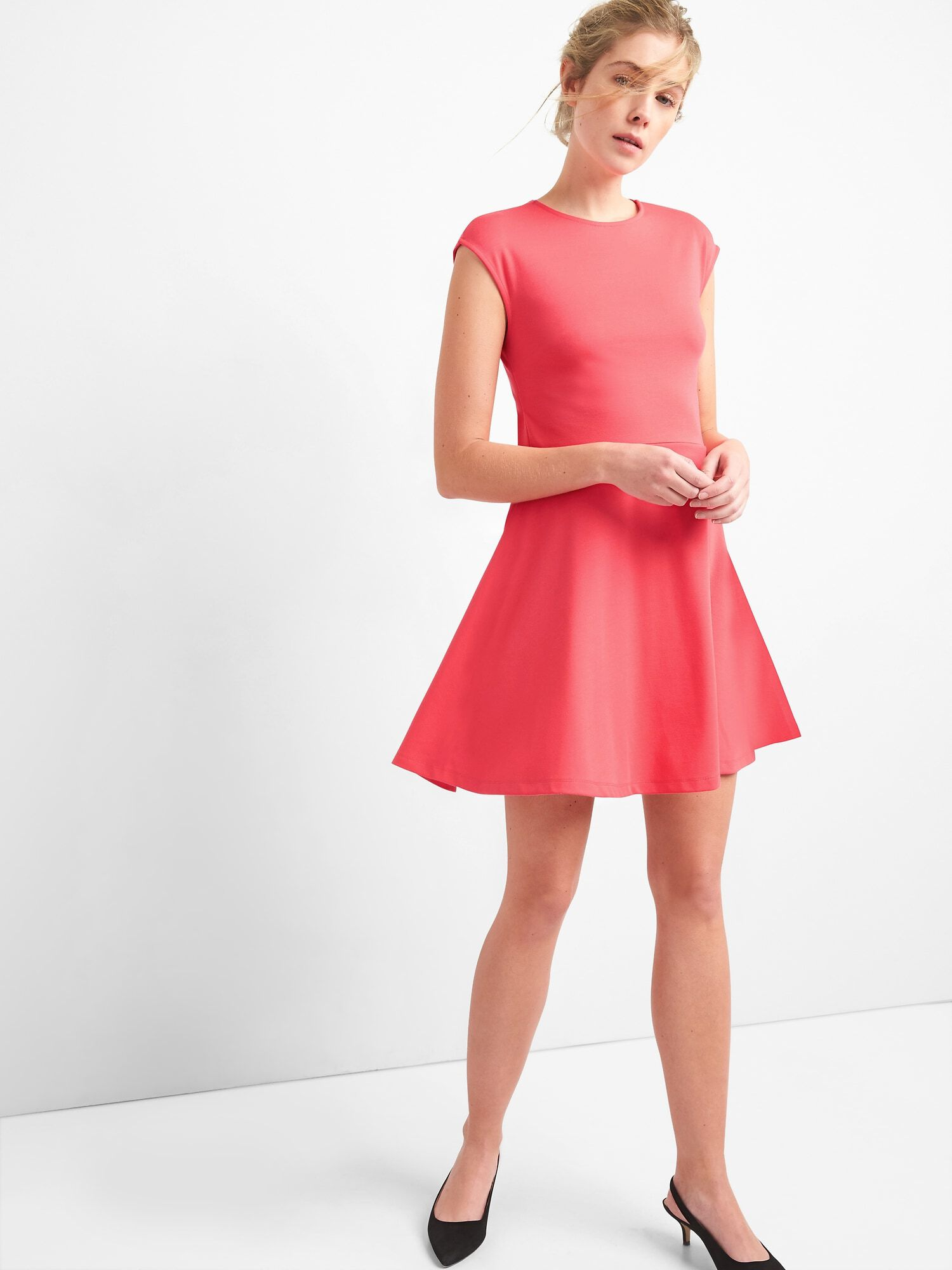 7a4da92c98 Bunny-Tie Fit and Flare Dress in Ponte