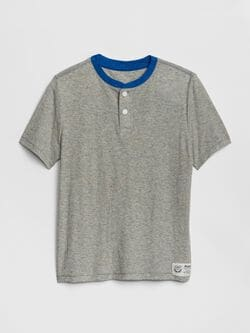 0cd62572f Kids Henley Short Sleeve T-Shirt