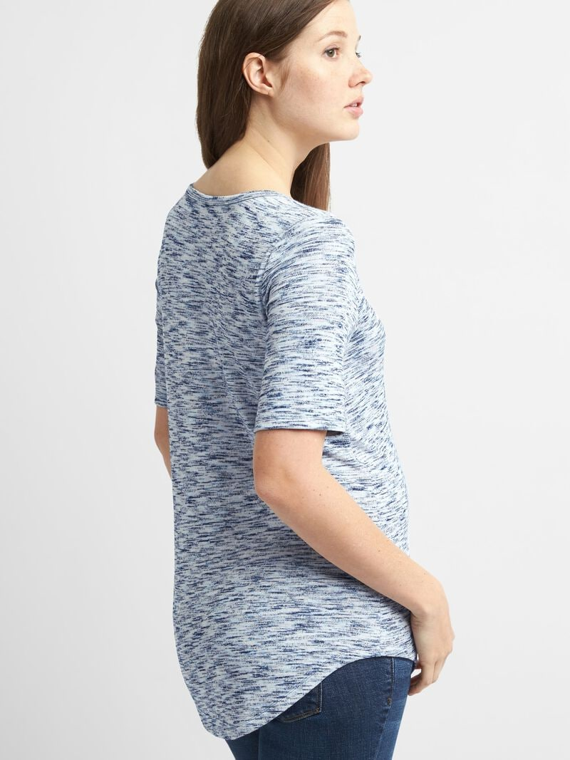 Gap - Maternity Soft Spun Short Sleeve Scoopneck T-Shirt - 2