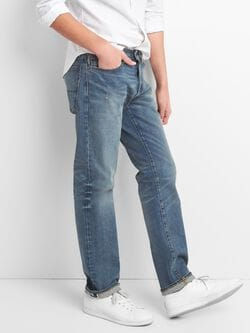 Gap Cone Denim® Selvedge Jeans In Straight Fit With Gap Flex by Gap