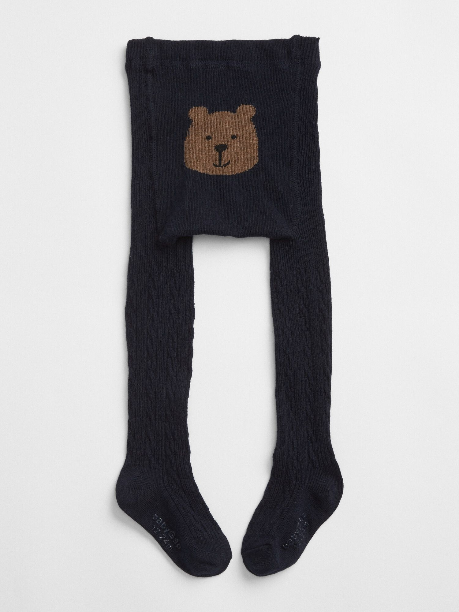 e324438b321d Bear Graphic Cable-Knit Tights