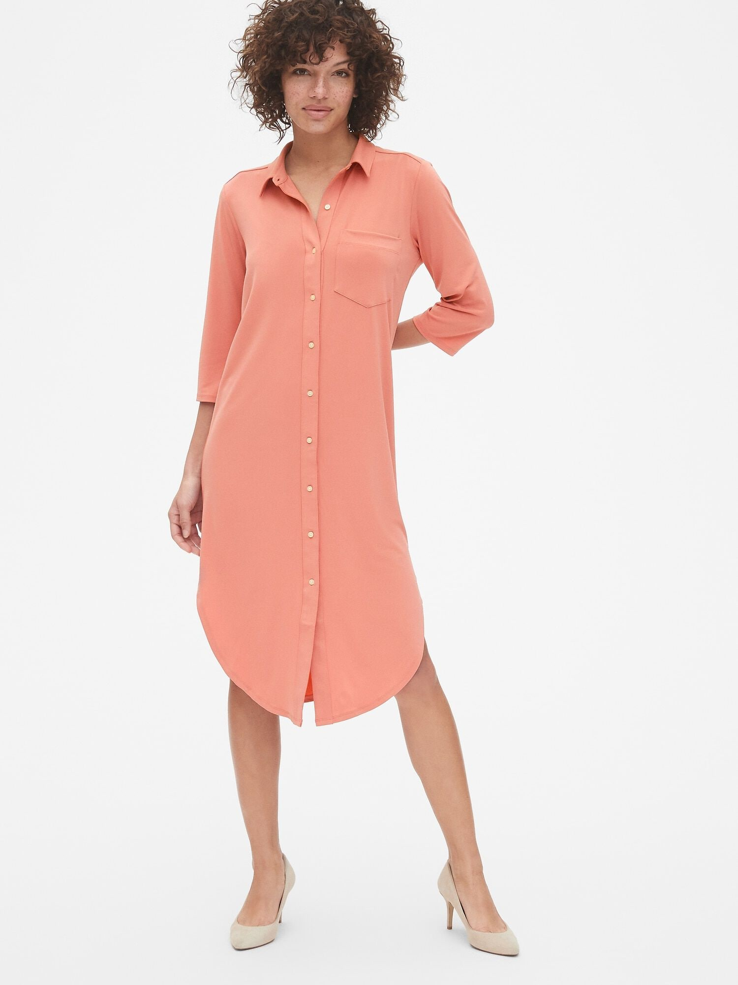 a6c7b1e3bbd5 Peach Shirt Dress Uk – DACC