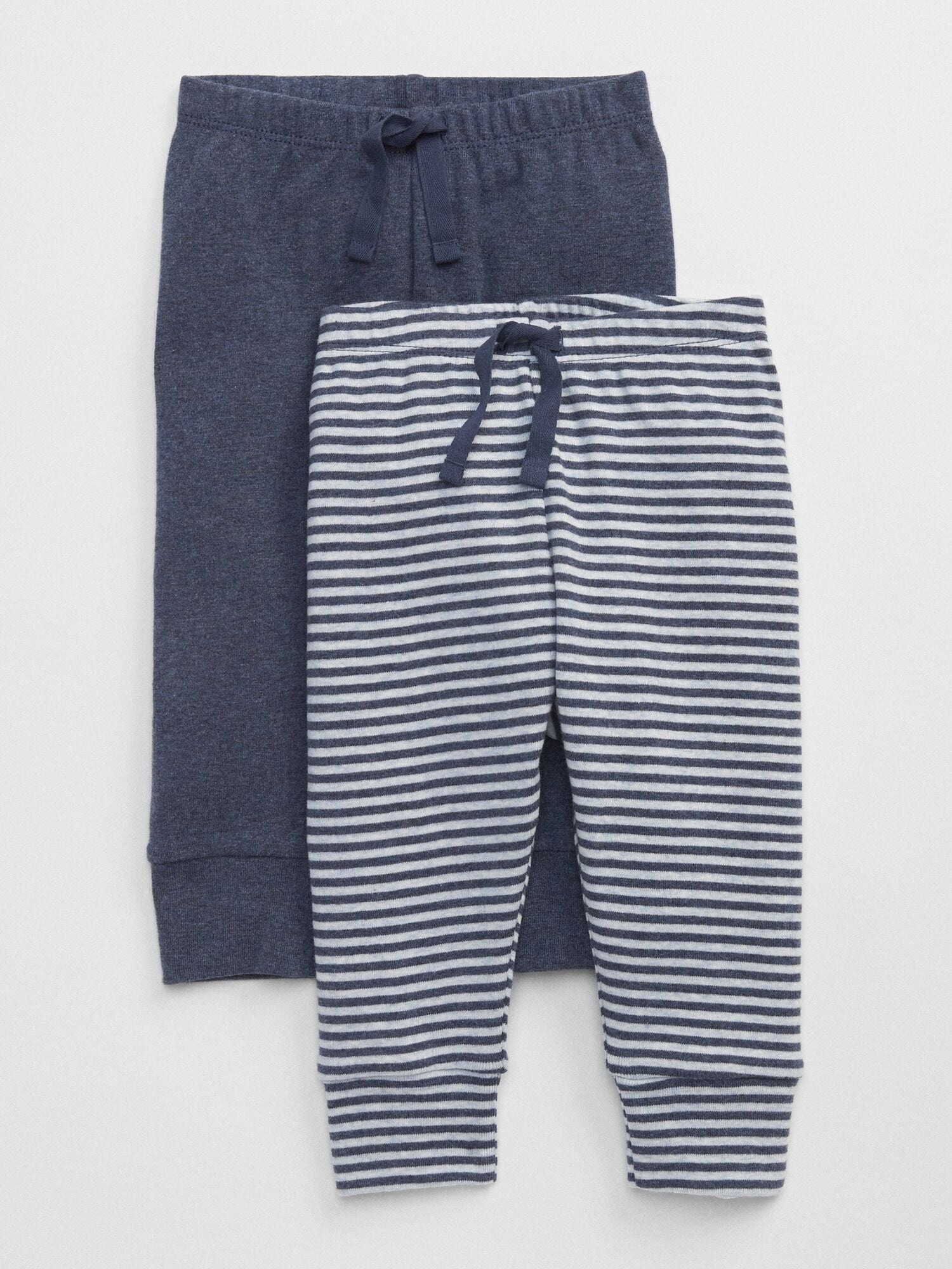 White Rugby Striped Cotton Knit Shorts GAP Baby Boy Size 6-12 Months Navy Blue