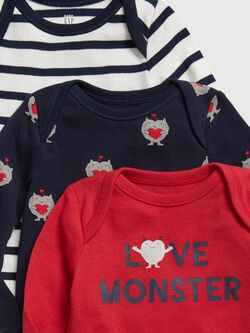 Baby Love Monster Bodysuit (3 Pack) by Gap