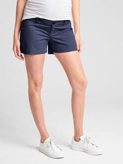 17a68e78d6da Maternity Inset Panel Summer Shorts in Stretch Twill