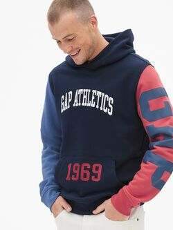 Colorblock Mix-Logo Pullover Hoodie fe51bb78d