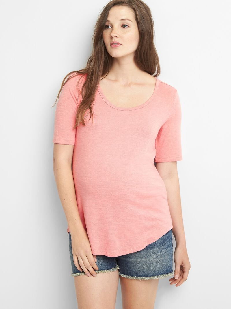 Gap - Maternity Soft Spun Short Sleeve Scoopneck T-Shirt - 1