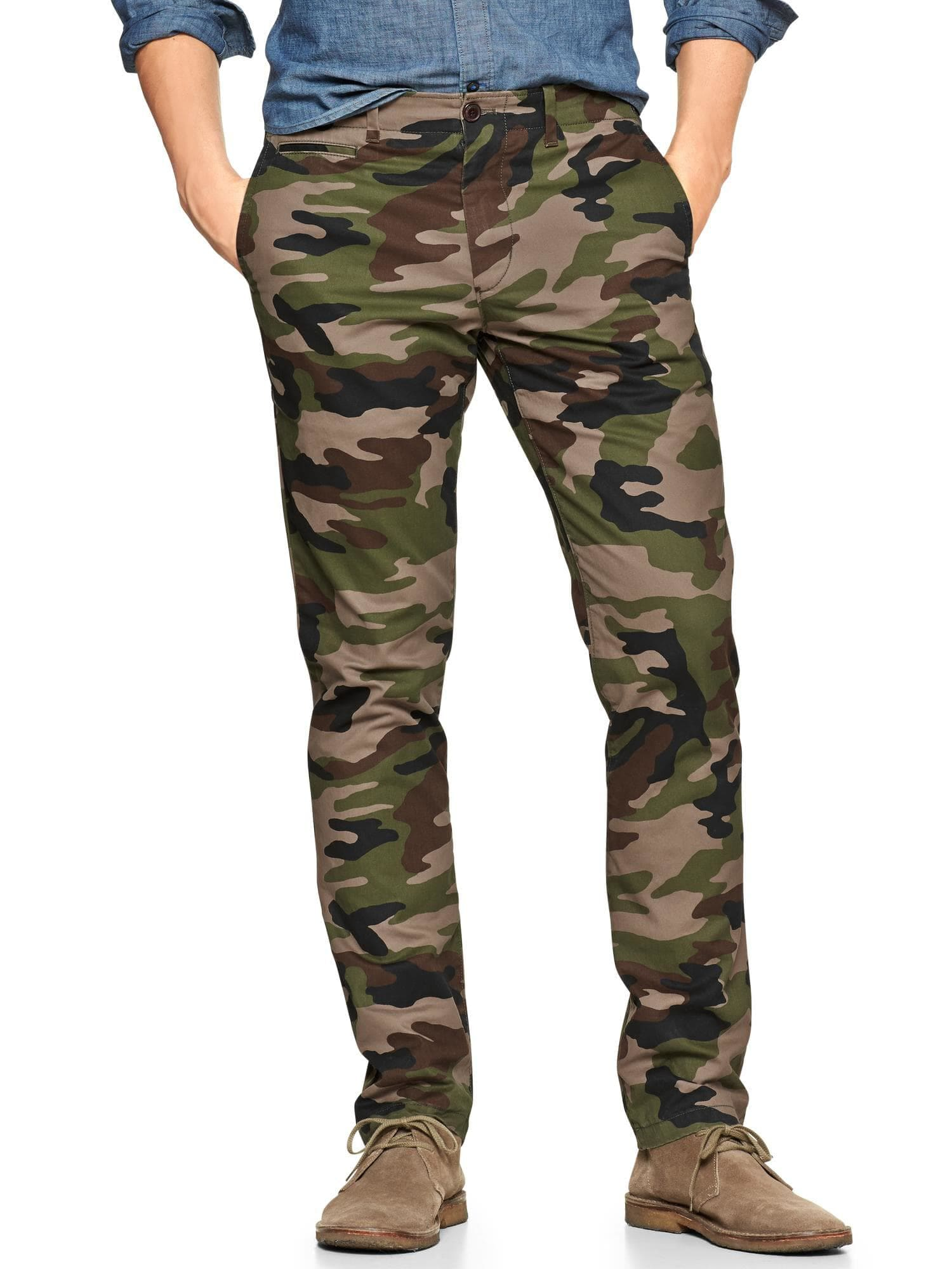lowest price stable quality online for sale Lived-in slim camo pant