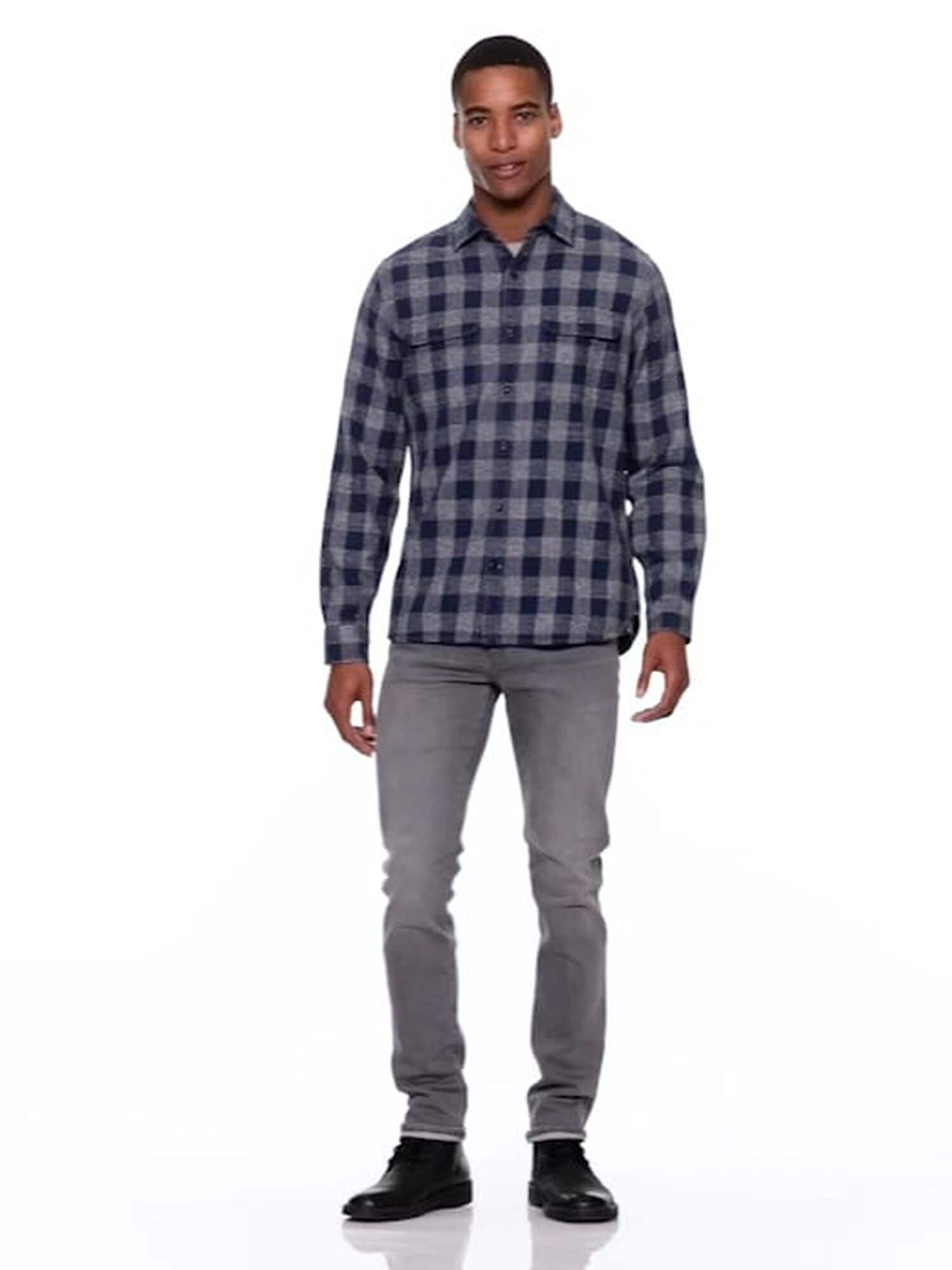 d625103ed7c Heathered flannel gingham standard fit shirt