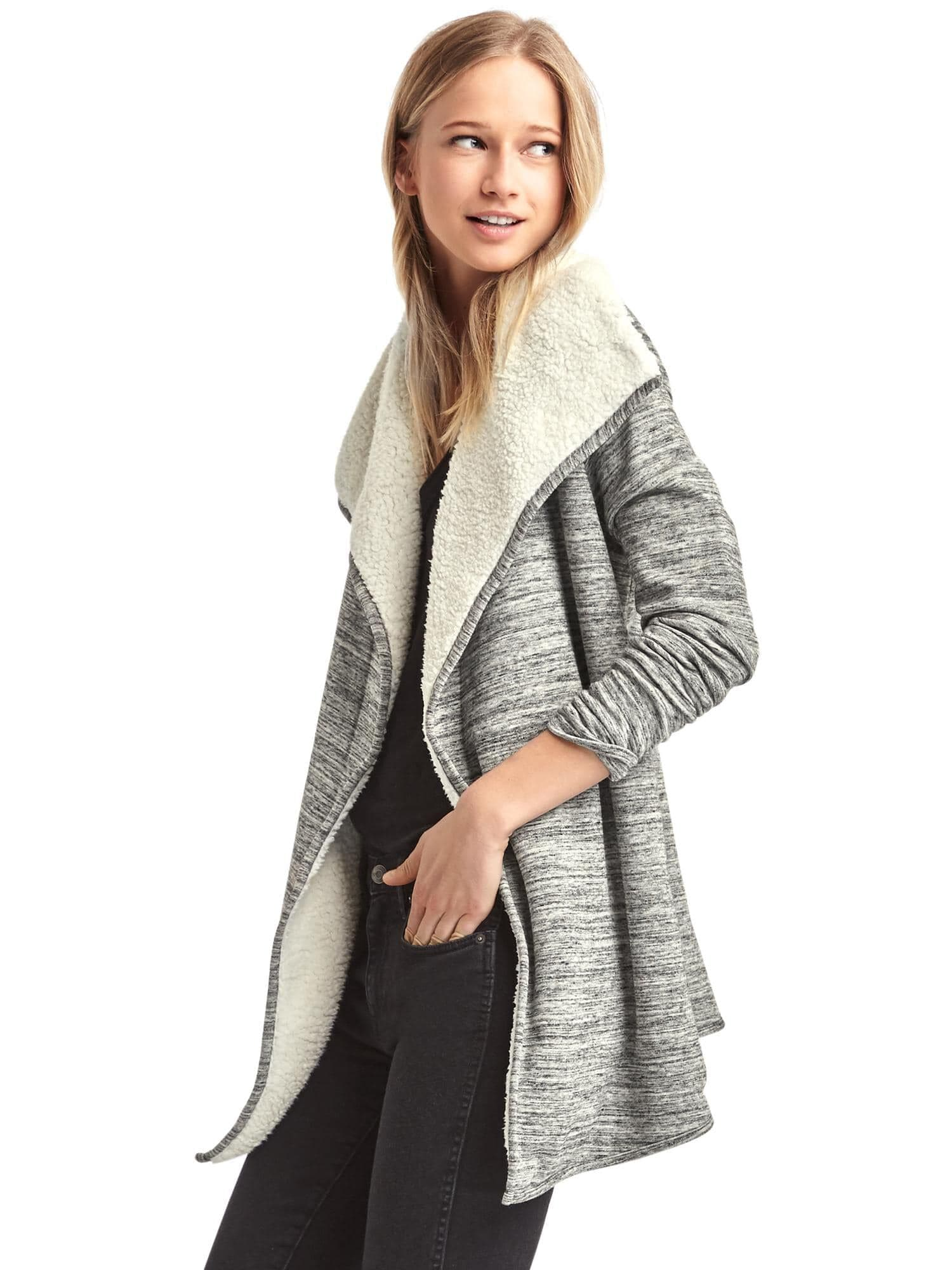 be2aa79818a Sherpa-lined spacedye cardigan